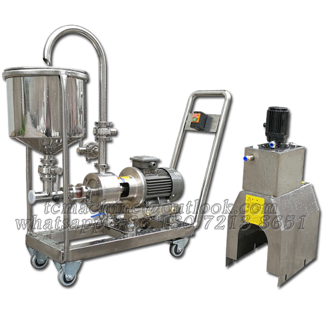single stage inline continuous mixer with castor