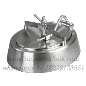 Inwards Opening Elliptical Manhole Cover for Wine Fermenter