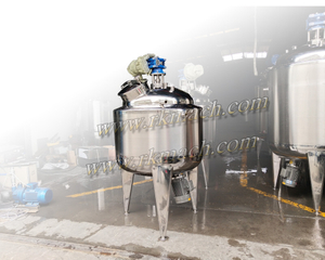 Sealed top mixing tank reactor W/O heating cooling jacket & thermal insulation